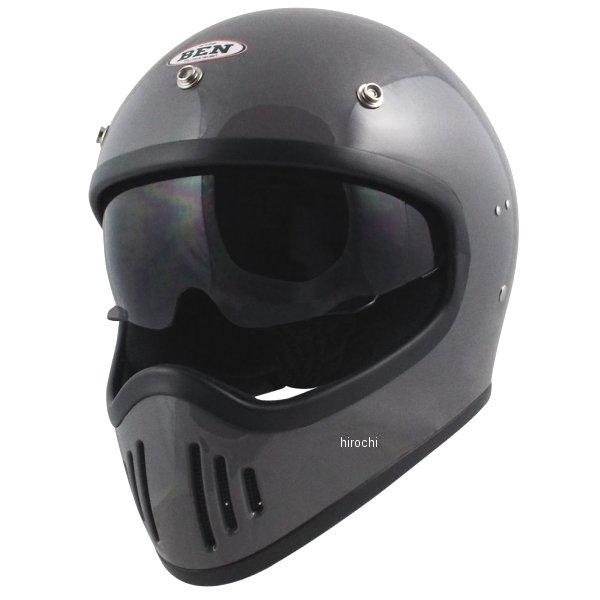 【メーカー在庫あり】 TNK工業 フルフェイスヘルメット B-80 ヴィンテージモトクロスヘルメット クラシックグレー フリーサイズ(58-59未満) 4984679512698 HD店