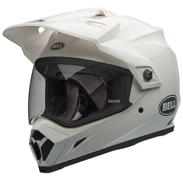 【メーカー在庫あり】 ベル BELL オフロードヘルメット MX-9 アドベンチャー MIPS ソリッド グロスホワイト Mサイズ(57cm-58cm) 7092725 HD店