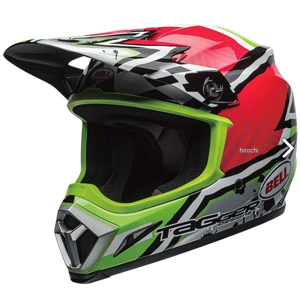 【メーカー在庫あり】 ベル BELL オフロードヘルメット MX-9 MIPS タガー アシンメトリック ピンク/緑 Mサイズ(57cm-58cm) 7100892 HD店