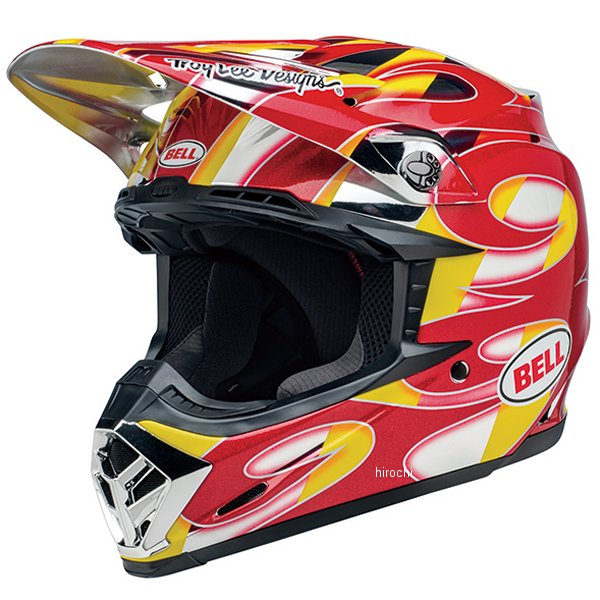 【メーカー在庫あり】 ベル BELL オフロードヘルメット MOTO-9 MIPS MCレプリカ 赤/黄/クローム Lサイズ(59cm-60cm) 7105589 HD店