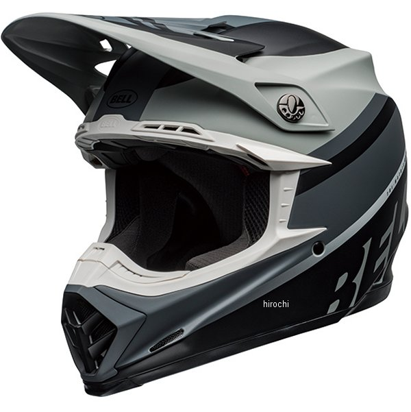【メーカー在庫あり】 ベル BELL オフロードヘルメット MOTO-9 MIPS プロフェシー マットグレー/黒/白 Lサイズ(59cm-60cm) 7109828 HD店