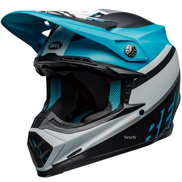 【メーカー在庫あり】 ベル BELL オフロードヘルメット MOTO-9 MIPS プロフェシー マットホワイト/黒/青 Mサイズ(57cm-58cm) 7109863 HD店