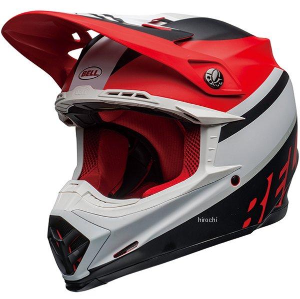 【メーカー在庫あり】 ベル BELL オフロードヘルメット MOTO-9 MIPS プロフェシー マットホワイト/赤/黒 Mサイズ(57cm-58cm) 7109875 HD店