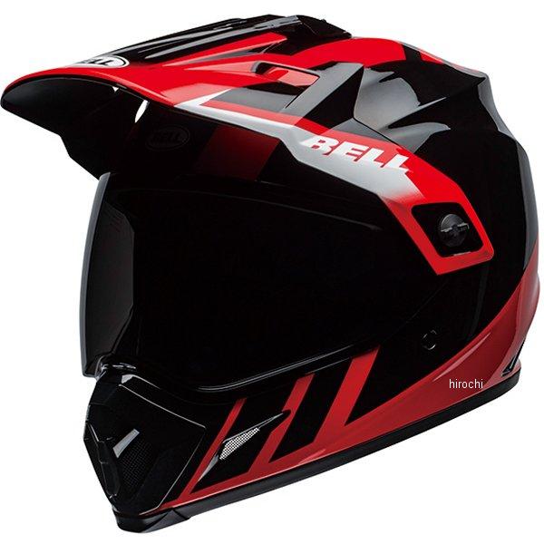 【メーカー在庫あり】 ベル BELL オフロードヘルメット MX-9 アドベンチャー MIPS ダッシュ グロスブラック/赤/白 Mサイズ(57cm-58cm) 7110277 HD店