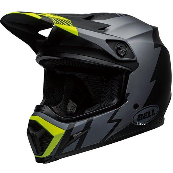 【メーカー在庫あり】 ベル BELL オフロードヘルメット MX-9 MIPS ストライク マットグレー/黒/ハイビズ XLサイズ(60cm-61cm) 7110377 HD店
