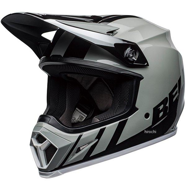 【メーカー在庫あり】 ベル BELL オフロードヘルメット MX-9 MIPS ダッシュ グレー/黒/白 Lサイズ(58cm-59cm) 7111201 HD店