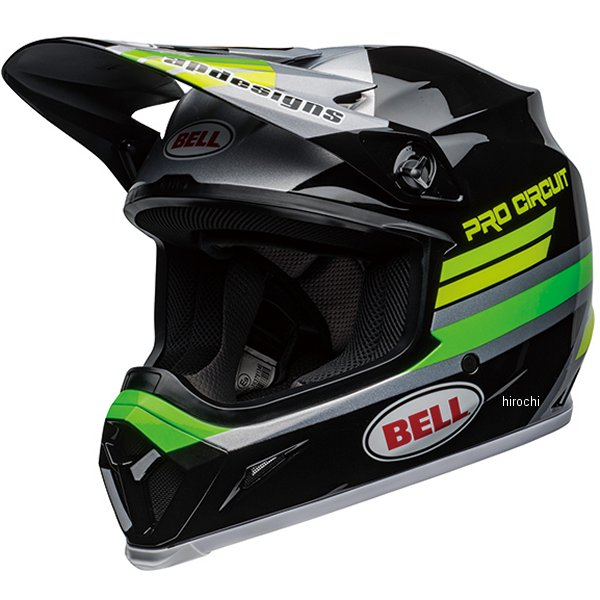 【メーカー在庫あり】 ベル BELL オフロードヘルメット MX-9 MIPS プロサーキットレプリカ2020 グロスブラック/緑 XLサイズ(60cm-61cm) 7111317 HD店