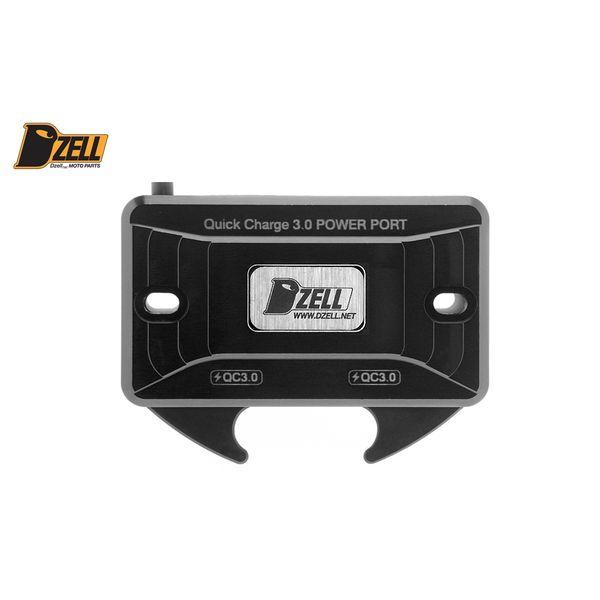 コルハート Dzell USB Twoポート Y/B(BLACK) QC3.0×2口 黒 780207 HD店