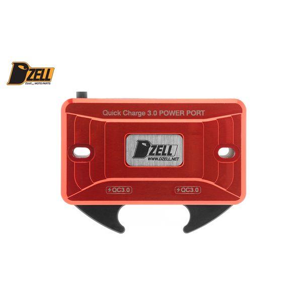 コルハート Dzell USB Twoポート Y/B(RED) QC3.0×2口 赤 780209 HD店