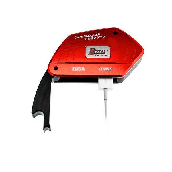 コルハート Dzell USB Twoポート BMW-R(RED) QC3.0×2口 赤 780212 HD店