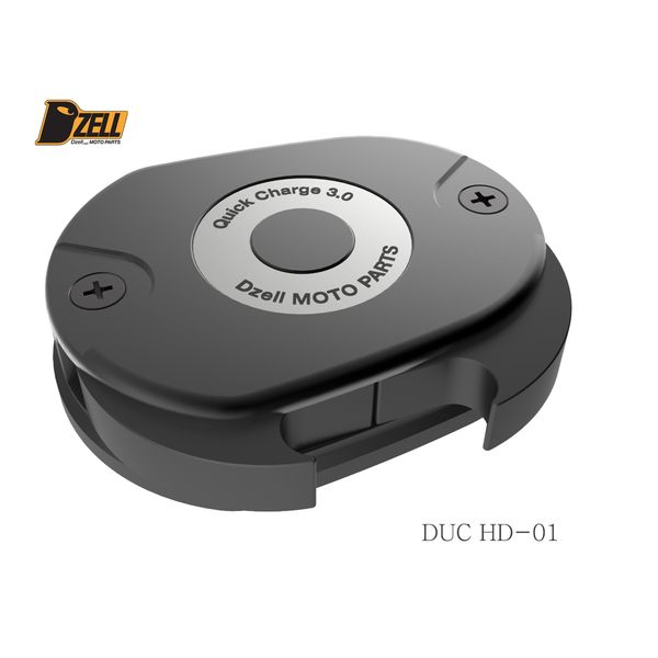 コルハート Dzell USB Twoポート ハーレーHD-01 QC3.0×2口 黒 780215 HD店