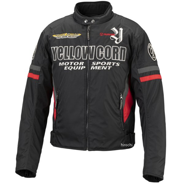 イエローコーン YeLLOW CORN 2019年秋冬モデル ウインターライダースジャケット 黒/赤 3Lサイズ BB-9307 HD店