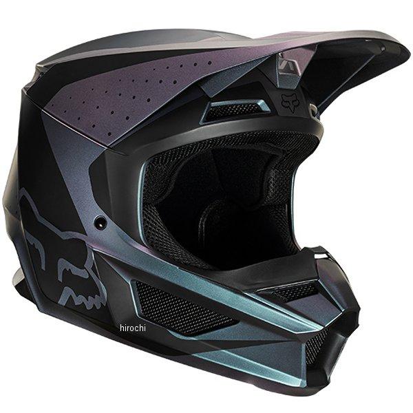 【メーカー在庫あり】 フォックス FOX オフロードヘルメット V1 ウェルド ブラックイリジウム Lサイズ(59cm-60cm) 22960-603-L HD店