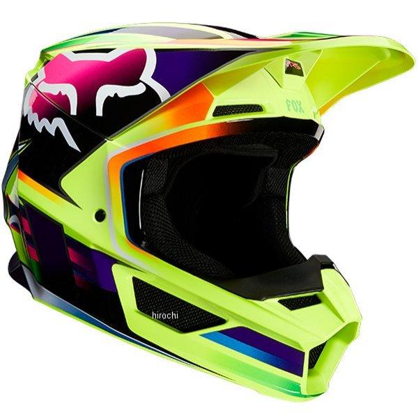 【メーカー在庫あり】 フォックス FOX オフロードヘルメット V1 ガマ 黄 Lサイズ(59cm-60cm) 23977-005-L HD店