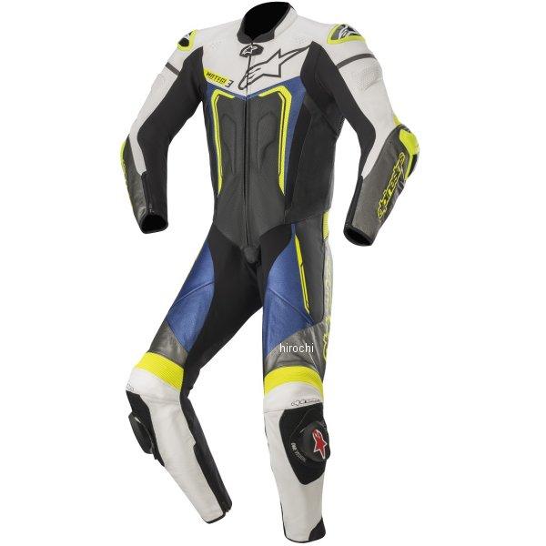 アルパインスターズ 2019年秋冬モデル レザースーツ MOTEGI V3 黒/白/メタリックグレー/青 48サイズ 8059175094699 HD店