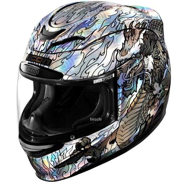 アイコン ICON 2019年秋冬モデル フルフェイスヘルメット AIRMADA LEGION シルバー Lサイズ 0101-12288 HD店