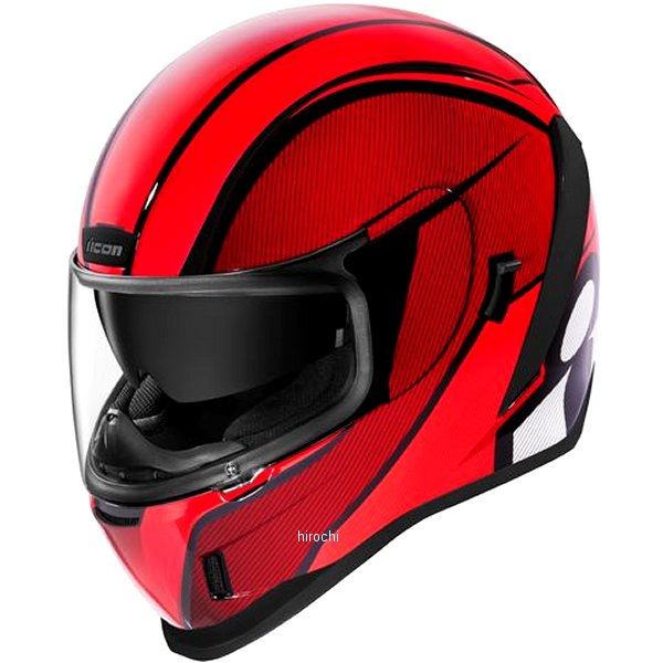 アイコン ICON 2019年秋冬モデル フルフェイスヘルメット AIRFORM CONFLUX 赤 Lサイズ 0101-12309 HD店