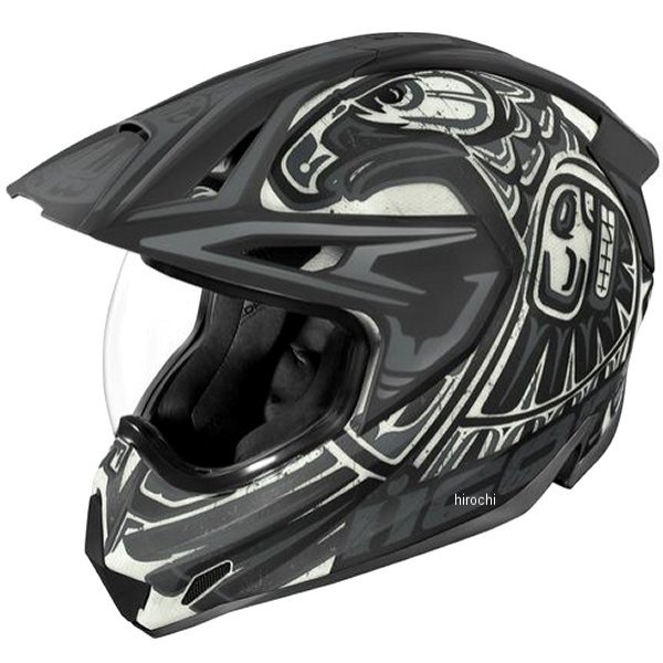 アイコン ICON 2019年秋冬モデル フルフェイスヘルメット VARIANT PRO TOTEM 黒/グレー XLサイズ 0101-12455 HD店