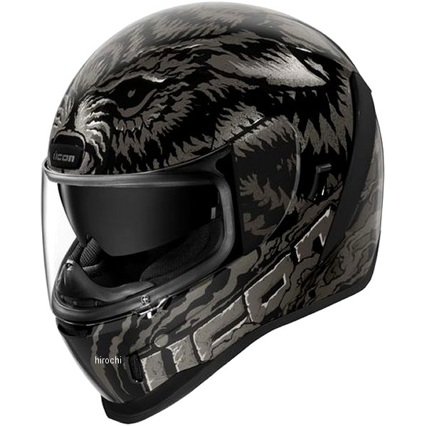 アイコン ICON 2019年秋冬モデル フルフェイスヘルメット AIRFORM LYCAN 黒 Lサイズ 0101-12646 HD店
