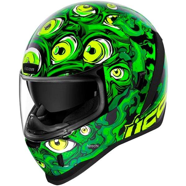 アイコン ICON 2019年秋冬モデル フルフェイスヘルメット AIRFORM ILLUMINATUS 緑 2XLサイズ 0101-12662 HD店