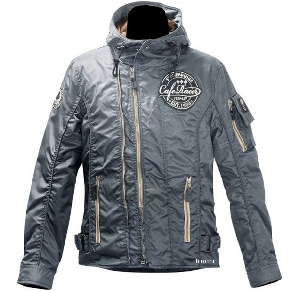 エースカフェロンドン 2019年秋冬モデル ナイロン W2 フーデット ジャケット グレー Lサイズ FS1902NJ-GY/L HD店