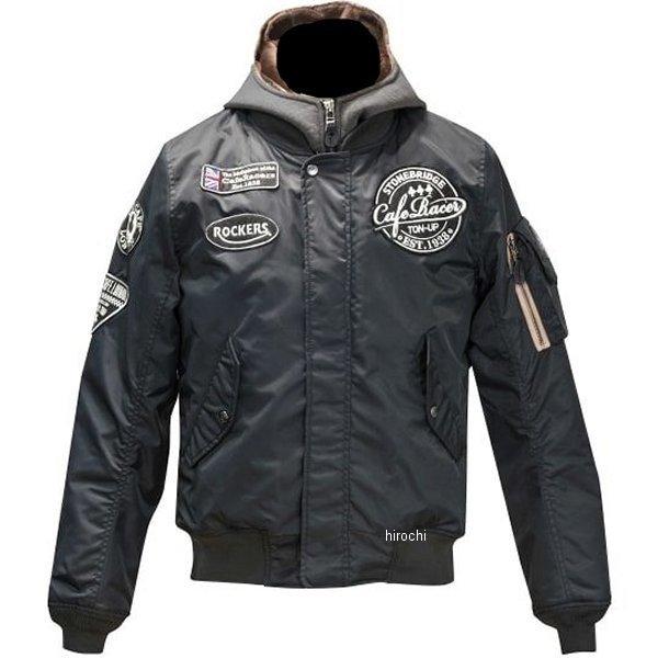 エースカフェロンドン 2019年秋冬モデル ナイロン フーデット フライト ジャケット 黒 Sサイズ FS1901NJ-BK/S HD店