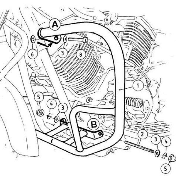 ヘプコアンドベッカー HEPCO&BECKER エンジンガード 99年-02年 XVS1100 ドラッグスター クローム 501414 00 02 HD店