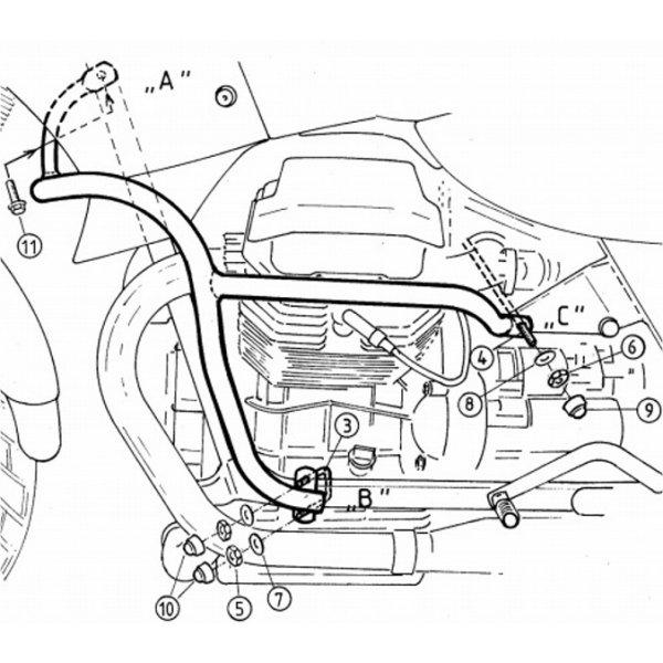 ヘプコアンドベッカー HEPCO&BECKER エンジンガード 98年-01年 クォータ1100ES ブラック 501503 00 01 HD店