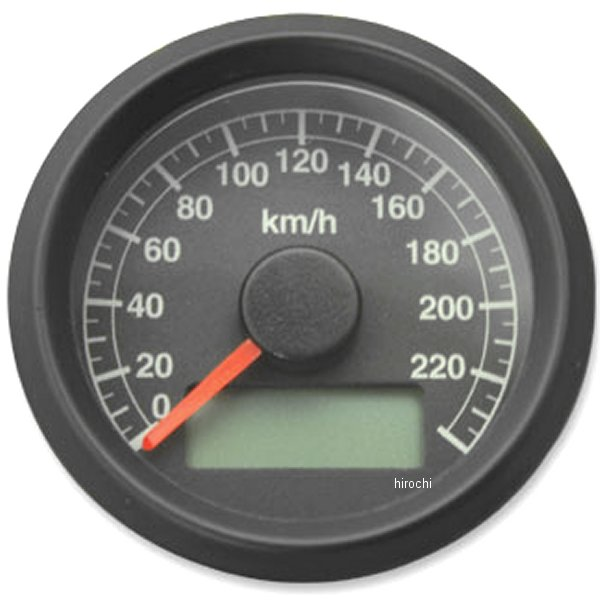 【メーカー在庫あり】 ガッツクローム アジャスタブルスピードメーター 機械式 黒盤 ブラックボディ 4100-5102 HD店