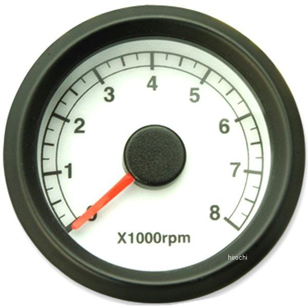 【メーカー在庫あり】 ガッツクローム 電気式アジャスタブルタコメーター白盤黒ボディ 4100-5320 HD店