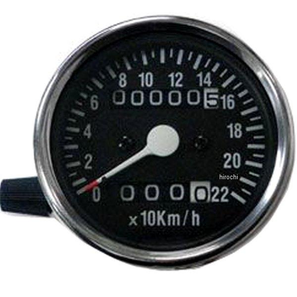 【メーカー在庫あり】 ガッツクローム スピードメーター 2:1 機械式 トリップ付き 60mm 黒 4100-7021 HD店