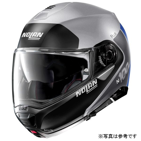 ノーラン NOLAN システムヘルメット N100-5 Plus Destinctive 30 フラットシルバー Mサイズ 16589 HD店