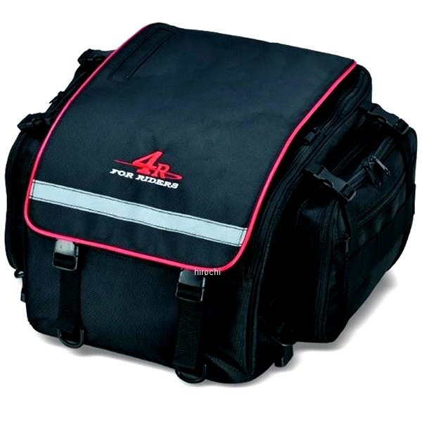 【メーカー在庫あり】 キジマ ツーリングシートバッグM ラディアトス 16L 黒/レッド FR-A00025 HD店