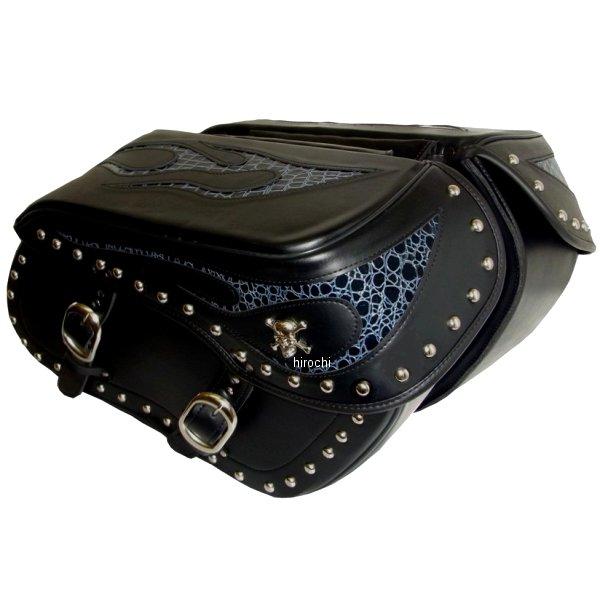 クロス Xross ラージサイドバッグ ダブルバッグ ブルークロコ シルバースカル BSF-203-1S HD店