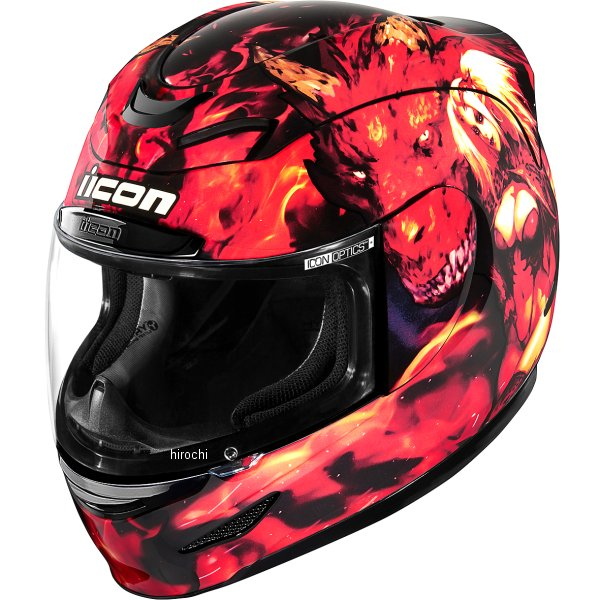 アイコン ICON フルフェイスヘルメット AIRMADA AZRAEL 赤 SMサイズ 0101-13057 HD店