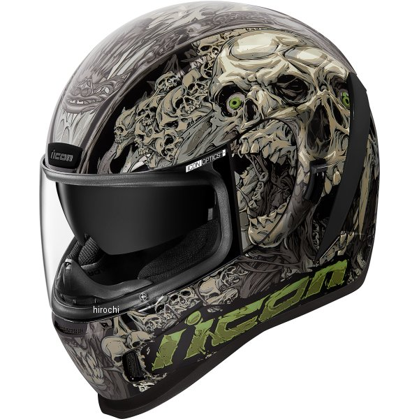 アイコン ICON フルフェイスヘルメット AIRFORM PARAHUMAN 黒 LGサイズ 0101-13066 HD店