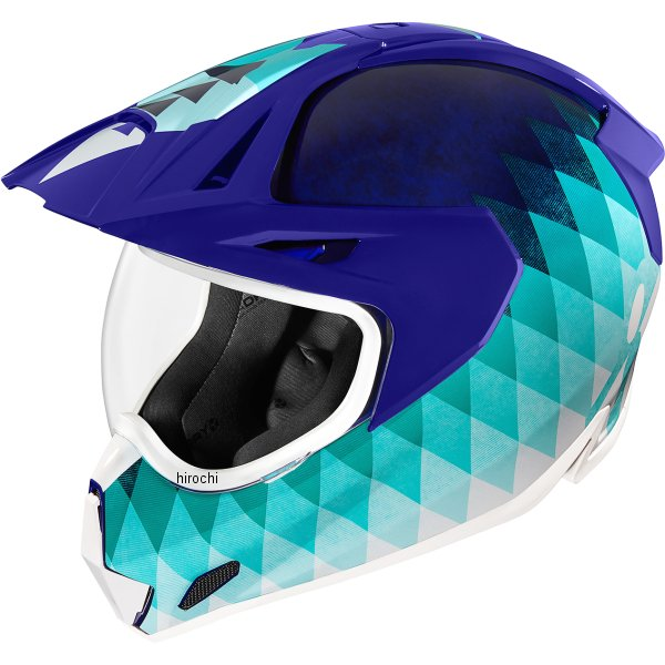 アイコン ICON フルフェイスヘルメット VARIANT PRO HELLO SUNSHINE 青 SMサイズ 0101-13257 HD店