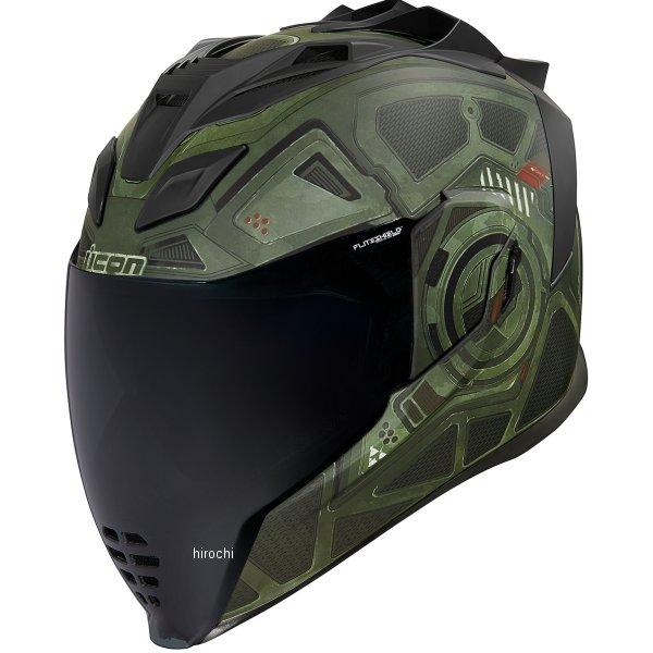 ICON BLACKCHAIN 緑 アイコン AIRFLITE SMサイズ フルフェイスヘルメット 0101-13276 HD店