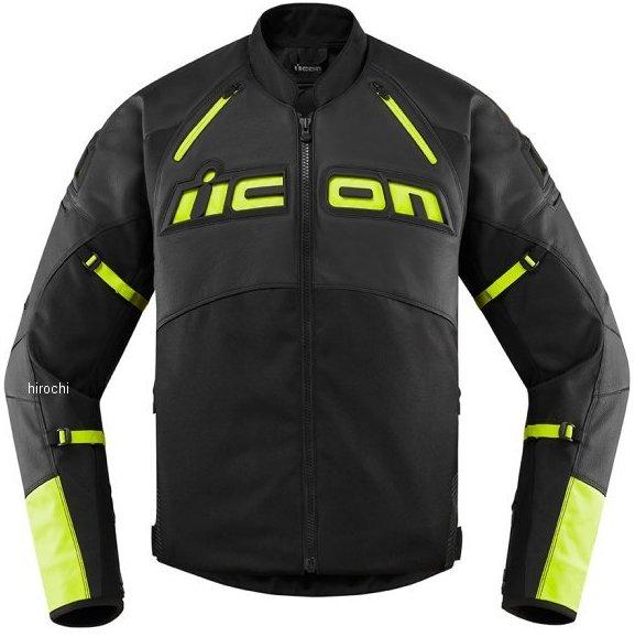 アイコン ICON 2020年春夏モデル ジャケット CONTRA2 LEATHER HIVIZ XLサイズ 2810-3657 HD店