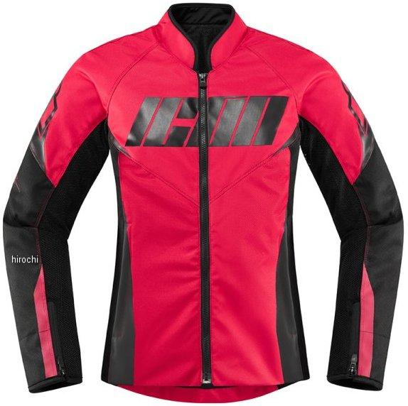 アイコン ICON 2020年春夏モデル ジャケット HOOLIGAN レディース 赤 XS サイズ 2822-1343 HD店