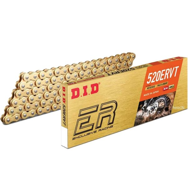 DID 大同工業 チェーン 520ERVTシリーズ ゴールド 160L クリップ 4525516358453 HD店