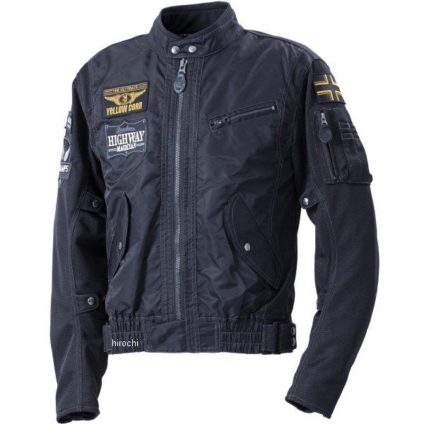 イエローコーン YeLLOW CORN 2020年春夏モデル コンビメッシュジャケット 黒 Lサイズ YB-0103 HD店