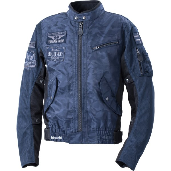 イエローコーン YeLLOW CORN 2020年春夏モデル コンビメッシュジャケット ネイビーカモフラージュ Lサイズ YB-0103 HD店