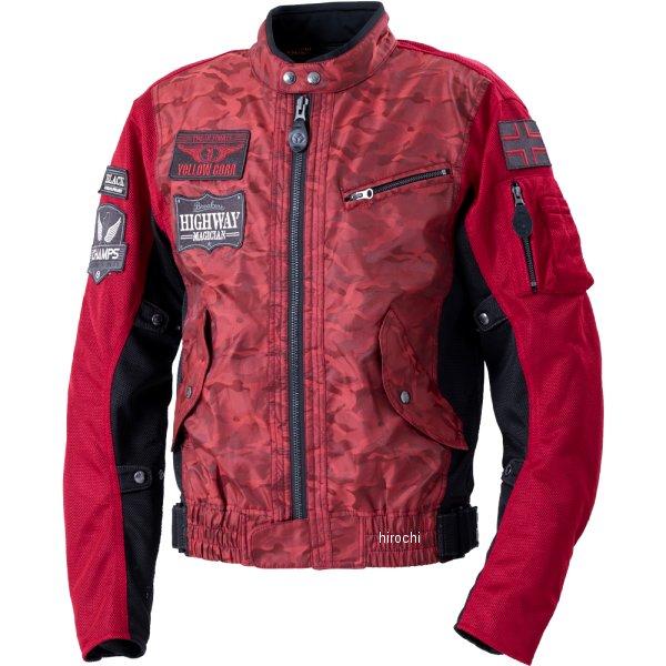 イエローコーン YeLLOW CORN 2020年春夏モデル コンビメッシュジャケット 赤カモフラージュ Lサイズ YB-0103 HD店