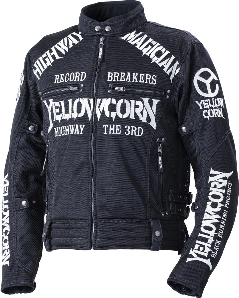イエローコーン YeLLOW CORN 2020年春夏モデル メッシュジャケット 黒/アイボリー Lサイズ YB-0105 HD店