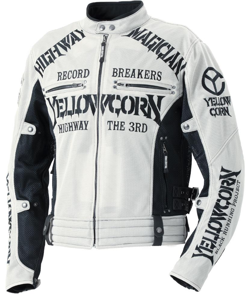 イエローコーン YeLLOW CORN 2020年春夏モデル メッシュジャケット アイボリー/黒 LLサイズ YB-0105 HD店