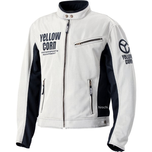 イエローコーン YeLLOW CORN 2020年春夏モデル ライトメッシュジャケット アイボリー Lサイズ YB-0120 HD店