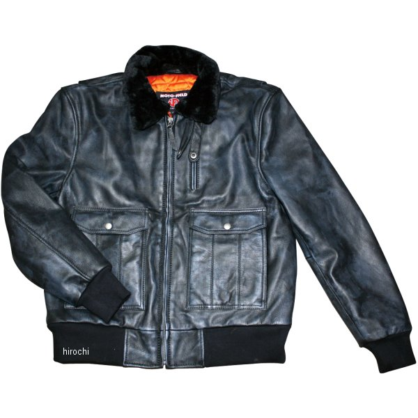 モトフィールド MOTO FIELD 2020年春夏モデル A2 ボンバージャケット 黒 Mサイズ MF-LJ142 HD店