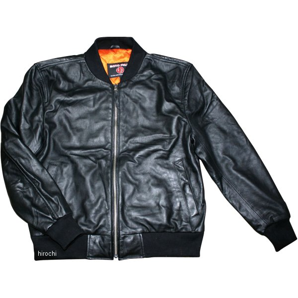 モトフィールド MOTO FIELD 2020年春夏モデル MA-1レザージャケット 黒 5Lサイズ MF-LJ131NK HD店