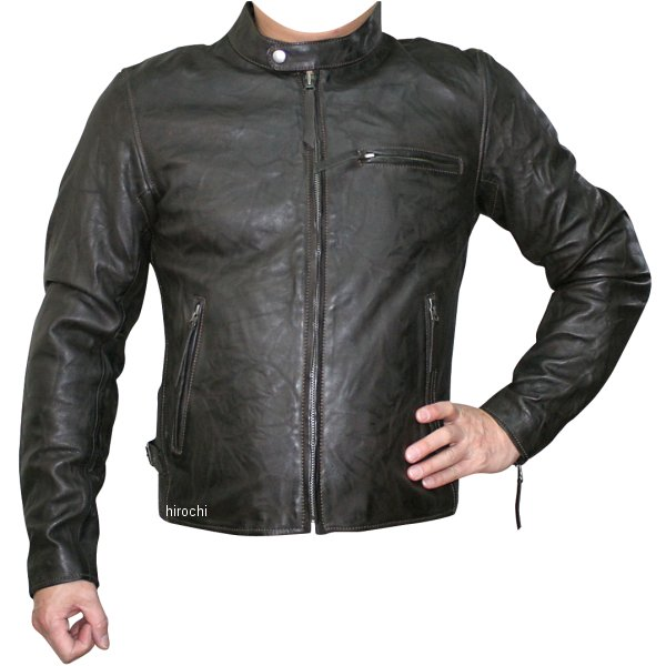 モトフィールド MOTO FIELD 2020年春夏モデル シングルビンテージライダースジャケット ダークブラウン Lサイズ MF-LJ147 HD店